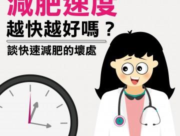 減肥速度越快越好嗎?談快速減肥的壞處 /文:陳韋螢醫師