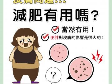皮膚問題減肥有用嗎? /文:夏明輝醫師