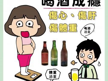 喝酒成癮,傷心、傷肝、傷體重/文:洪啟偉醫師
