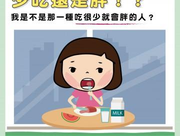 少吃還是胖!?我是不是那一種吃很少就會胖的人?/文:林黑潮醫師