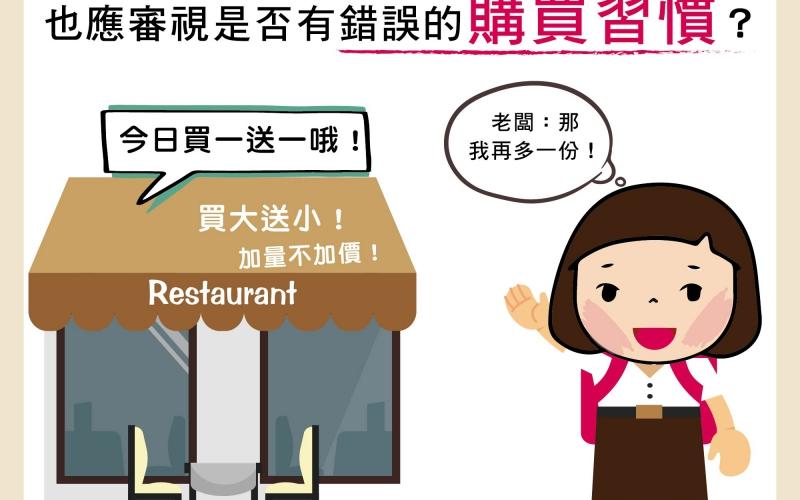 在減重的過程中,也應審視是否有錯誤的購買習慣?/文:王世杰醫師