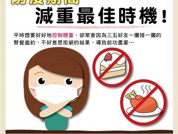 另類思考:防疫期間,減重最佳時機/文:沈孟娟醫師