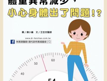 體重異常減少,小心身體出了問題/文:王世杰醫師