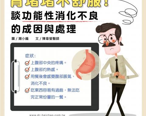 胃堵堵不舒服!談功能性消化不良的成因與處理/文:陳韋螢醫師